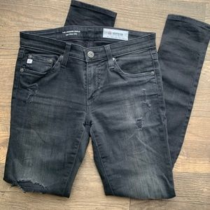 AG | Distressed Skinny Ankle Jeans - 26R